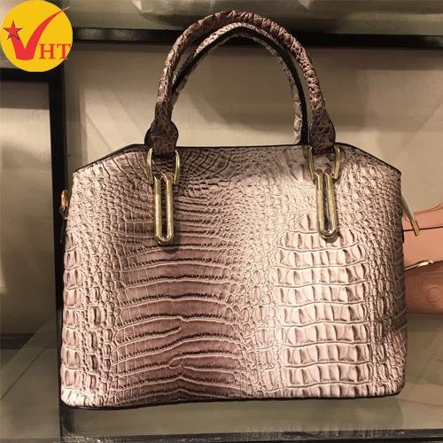 Túi xách thời trang công sở ép vân cá sấu mềm
